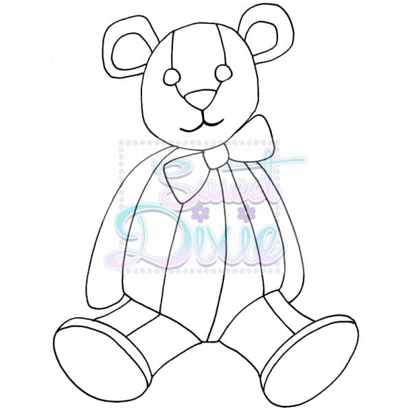 Sweet Dixie - Sweet Dixie Clear Stamp Zendoodle Teddy A6