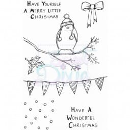 Lindsay Mason Designs - Merry Little Robin Clear Stamp A6