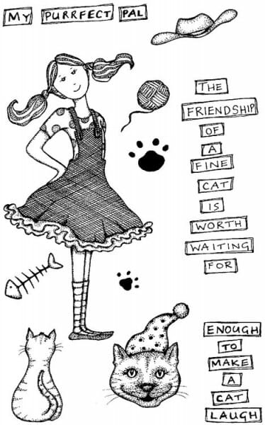 Lindsay Mason Designs - A6 My Purrfect Pal Clear Stamp
