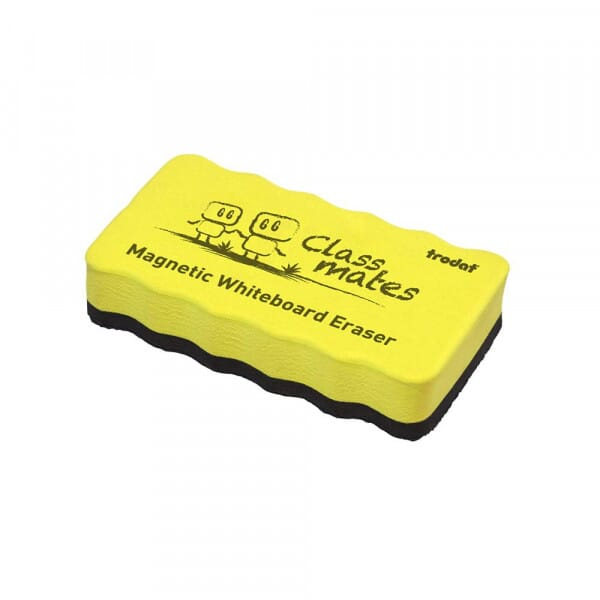 Magnetic Whiteboard Eraser - Yellow
