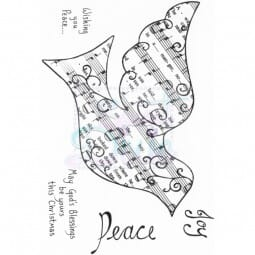 Lindsay Mason Designs - Wishing You Peace Clear Stamp A6