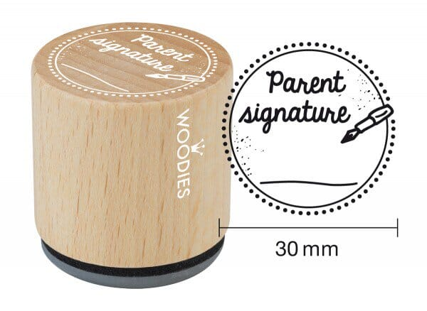 Woodies stamp Parent signature
