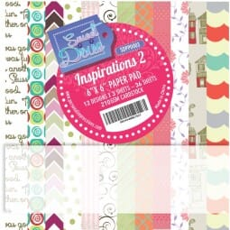 "Sweet Dixie Inspirations Two 6"" x 6"" Cardstock Pad"