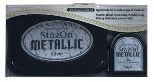 Tsukineko - Silver - StazOn Metallic Ink Pad