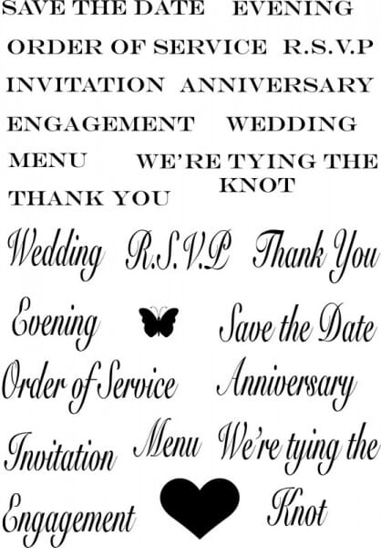 Sweet Dixie - Marion Emberson Wedding Sentiments Clear Stamp