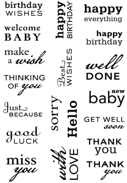 Art Stamps - PA Big Sentiments Clear Stamps