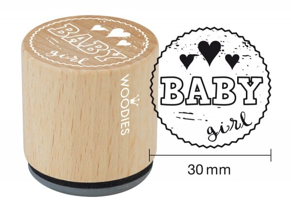 Woodies stamp Baby girl