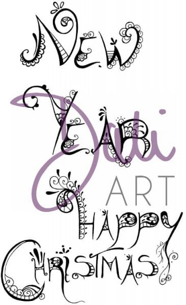 DaliArt - DaliART Clear Stamp Sentiments Christmas & New Year