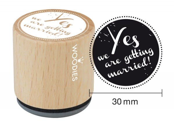 Woodies stamp Yes we are getting married!