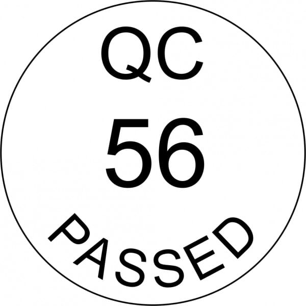 Customised Quality Control Inspection Number Stamp - Passed