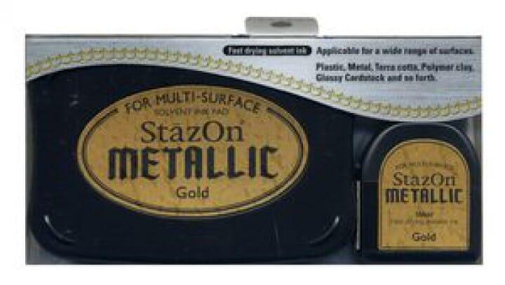 Tsukineko - Gold - StazOn Metallic Ink Pad