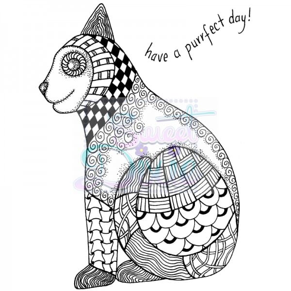 Sweet Dixie - Sweet Dixie Clear Stamp Zendoodle RTG Cat A6