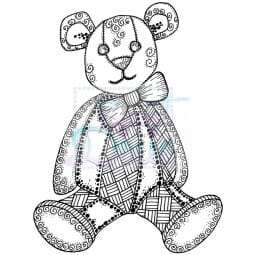Sweet Dixie - Sweet Dixie Clear Stamp Zendoodle RTG Teddy A6