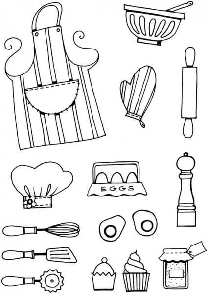 Lindsay Mason Designs - Kitchen Bits Clear Stamp