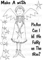 Lindsay Mason Designs - Doo Lally Pip Tree Fairy A6 Clear Stamp