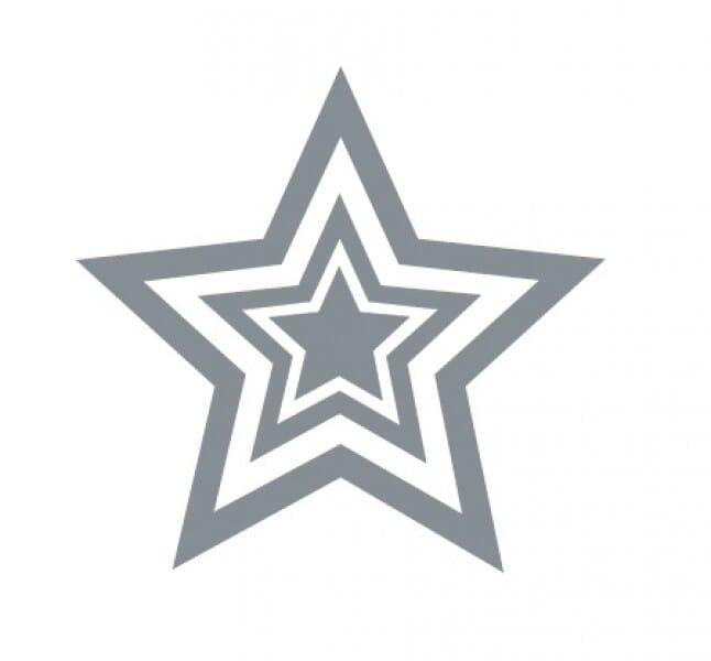 Trodat Printy 4922 - Silver triple star