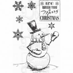 Kath Halstead Designs - Mr Frosty Clear Stamp A6