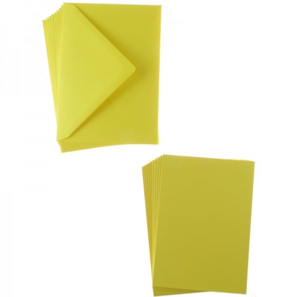 Sweet Dixie Lemon A6 Card and Envelope Packs (10)