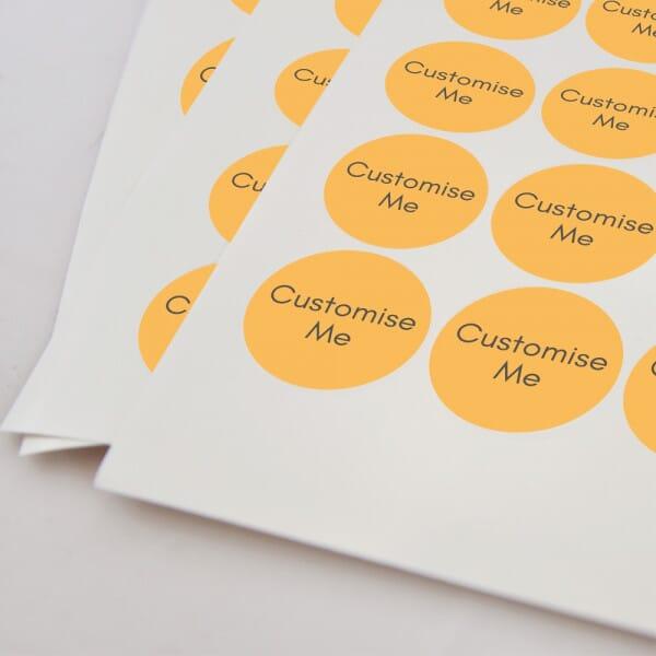 Round Vinyl Customised Stickers – Printed 30mm Dia