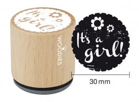 Woodies stamp It's a girl