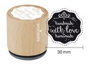 Woodies stamp handmade with love homemade