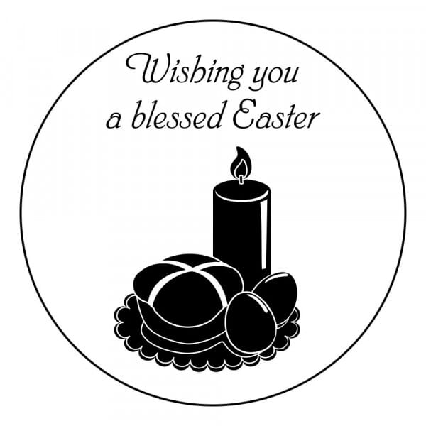 Craft Stamp - Wishing You a Blessed Easter