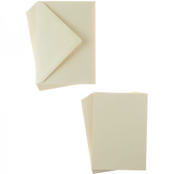 Sweet Dixie Natural A6 Card and Envelope Packs (10)