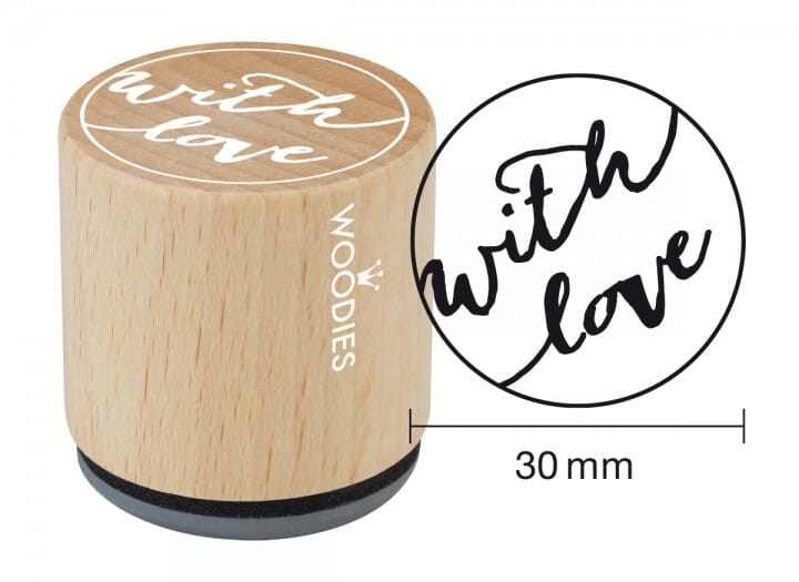 Woodies stamp With love 1