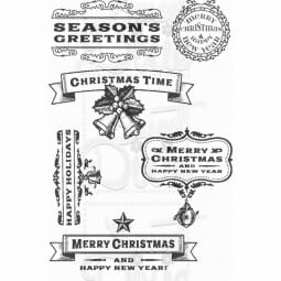 Kath Halstead Designs - Warm Christmas Words Clear Stamp A6