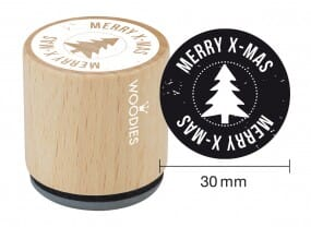 Woodies stamp Merry X-mas