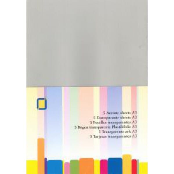JEJE Peel-offs - BS A3 Acetate Sheets - 5 Pack
