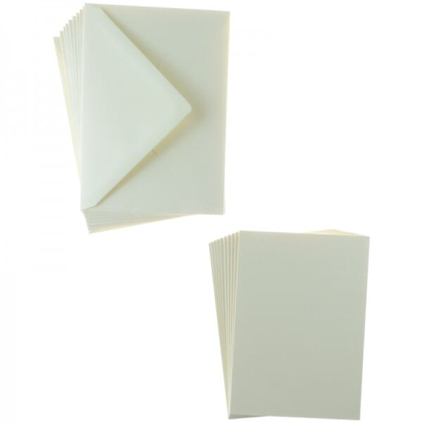Sweet Dixie Cream A6 Card and Envelope Packs (10)