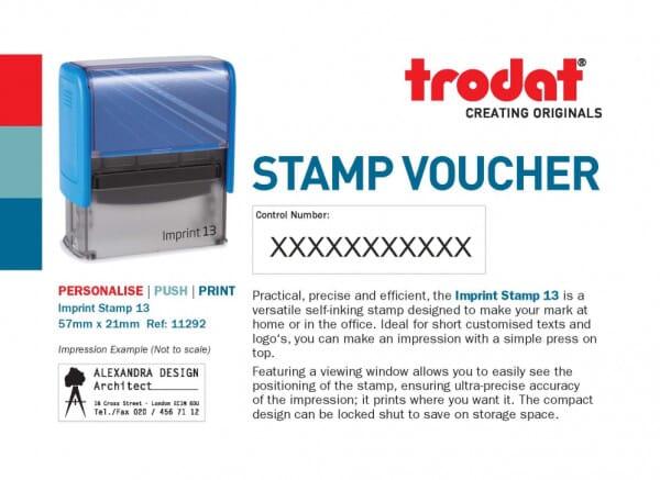 Imprint 13 Stamp Voucher
