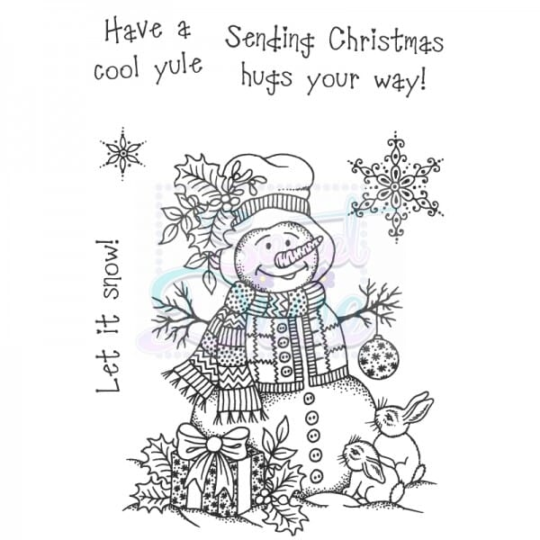 Sue Dix Designs - Cute Snowman Clear Stamp A6