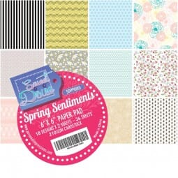"""Sweet Dixie Spring Sentiments 6"""" x 6"""" Cardstock Pad"""