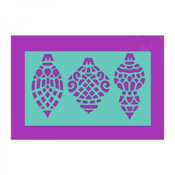 Sue Dix Designs - Baubles Stencil