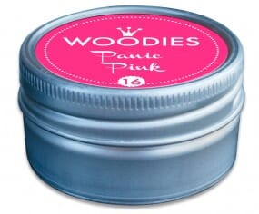 Woodies stamp pad Panic Pink NEON