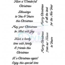 Lindsay Mason Designs - Have a Wonderful Christmas Clear Stamp A6
